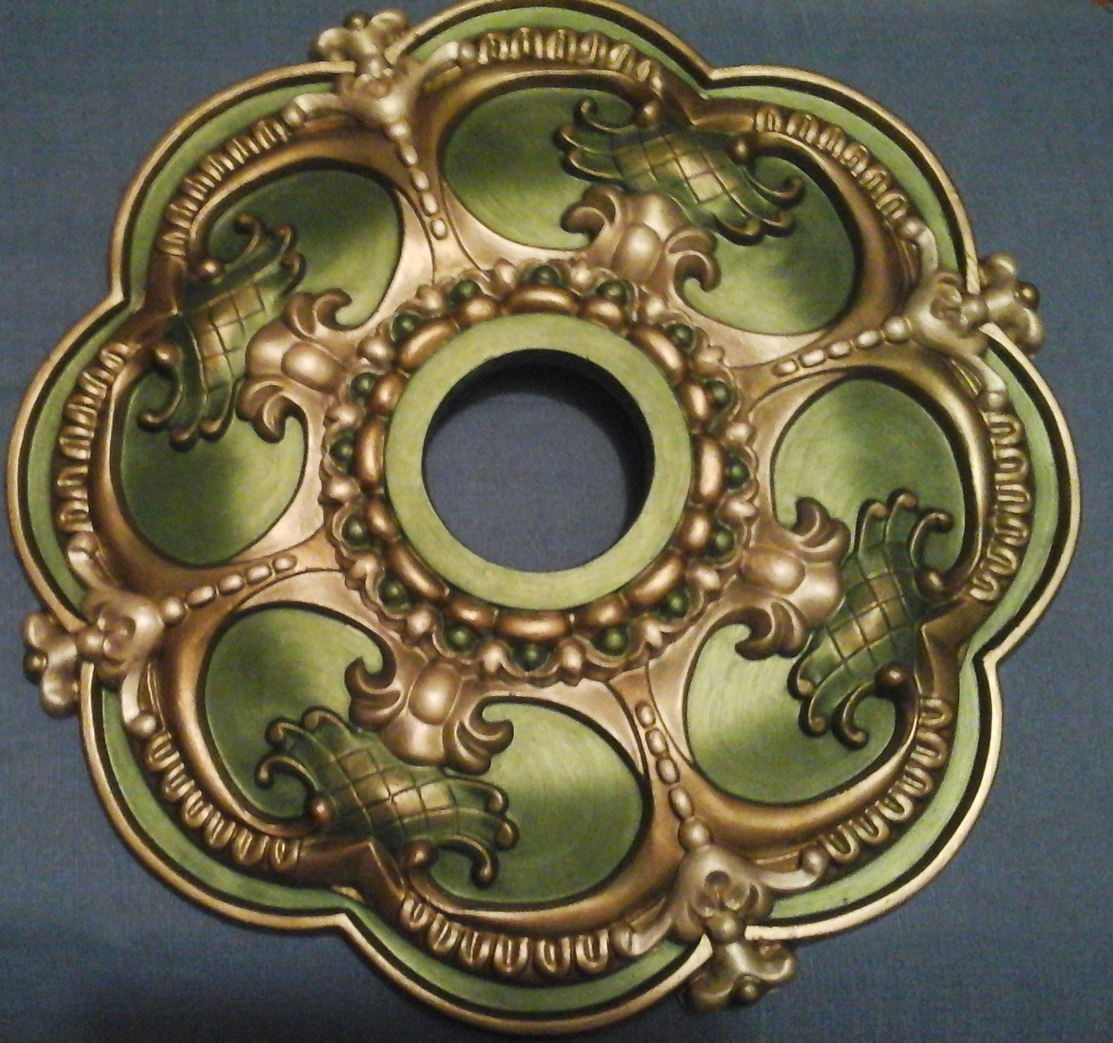 gold large painted medallion polyurethane products copper ceiling bronze custom