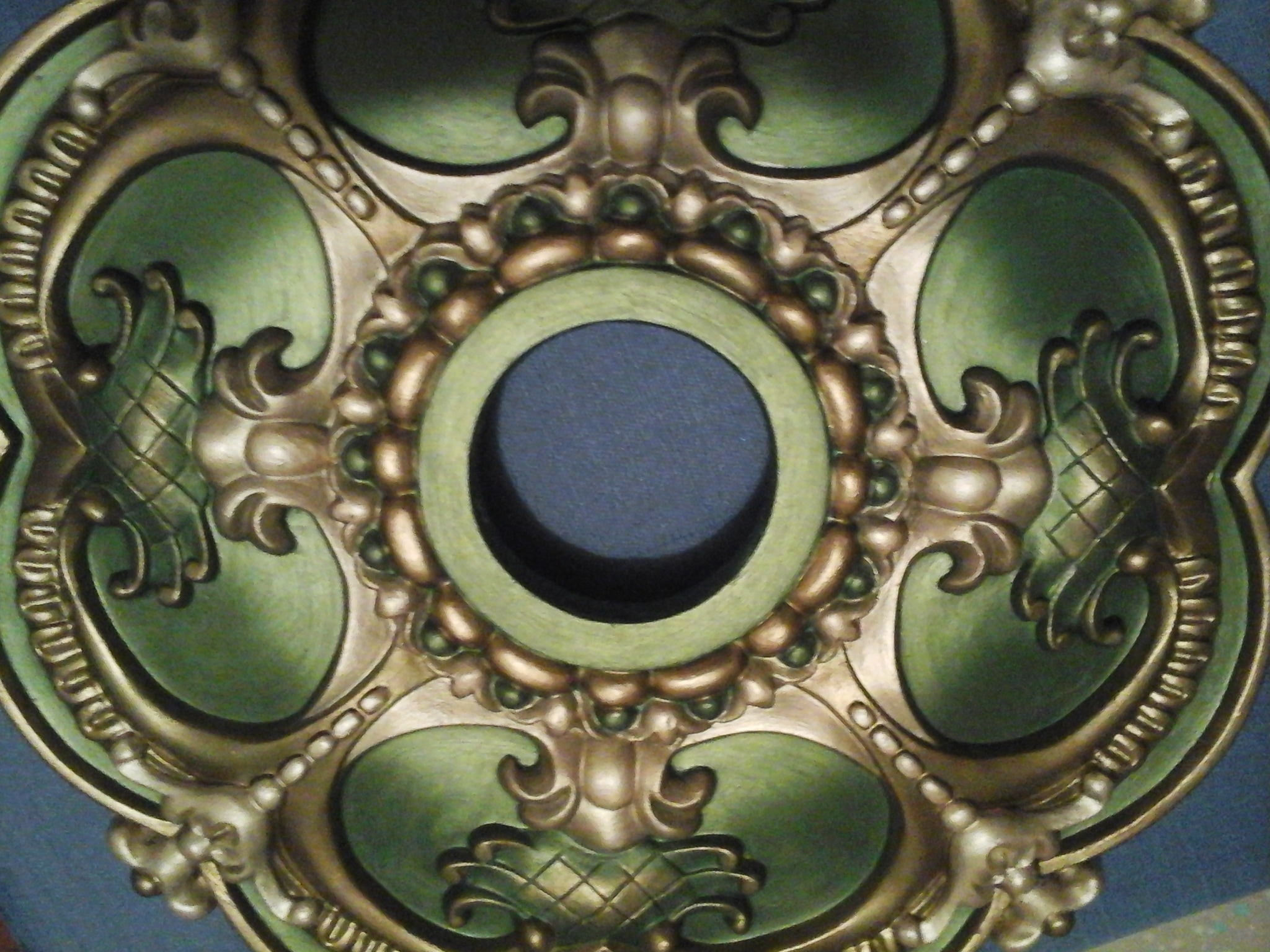 polyurethane custom gold leaf products bronze acanthus painted ceiling medallion